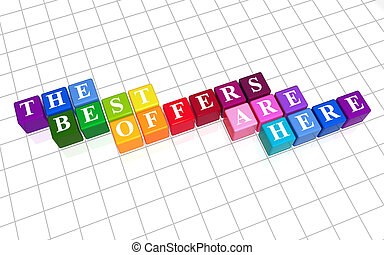 the best offers are here color - 3d color cubes with white...