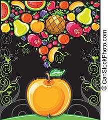 Apple splash ( fruit series)