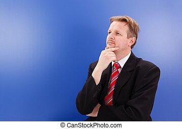 Thinking business man