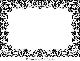 silhouette rose border