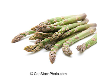 fresh asparagus spears isolated on white