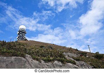 Weather station at top of Hong Kong, Tai Mo Shan
