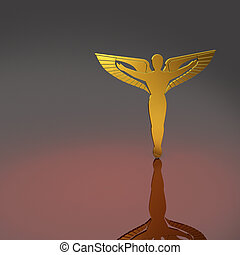 golden caduceus - caduceus emblem - a symbol for...