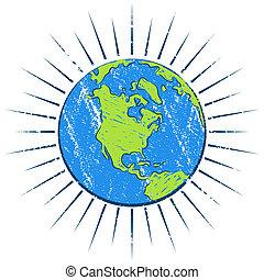 Weathered Globe - An imag