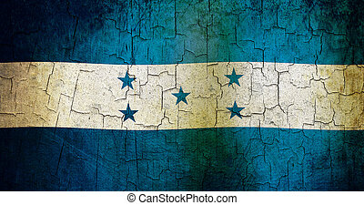 Grunge Honduras flag - Honduras flag on a cracked grunge...