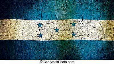 Grunge, honduras, bandera