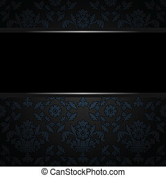 Background place text, blue ornamental fabric texture