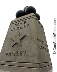 isolated gettysburg maine monument - dow's 6th maine battery...