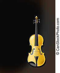 Golden Violine - golden violin or viola