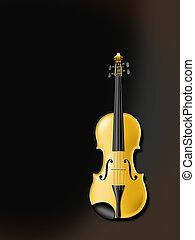 Golden Violine - golden violin or viola