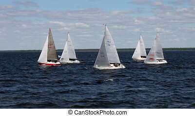 sailing race i - race is sailing ships