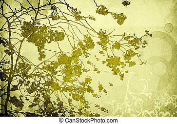 Multicolor foliage background with space for text or image