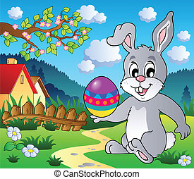 Easter bunny theme image 4 - vector illustration