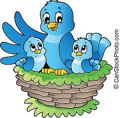 Bird theme image 3 - vector illustration.