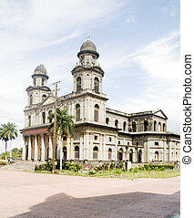 Cathedral of Santiago Managua Nicaragua on Plaza of the...