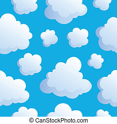 Seamless background with clouds 2