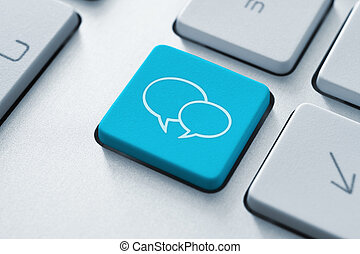 Social Media Key - Social media key button on the keyboard...