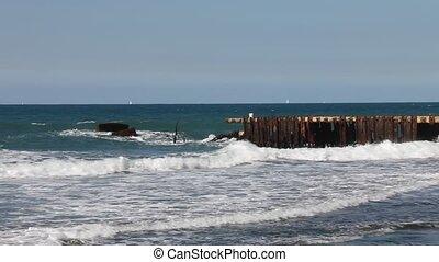 Old rusty pier
