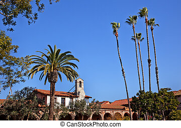 Mission San Juan Capistrano Church California Statue of...