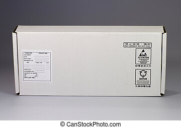 White cardboard box for electrostatic sensitive devices -...
