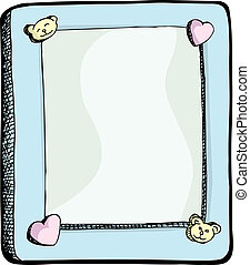 Cute Picture Frame - Cute picture frame with hearts and...