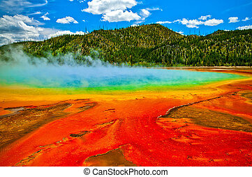 Grand Prismatic Spring Yellowstone - Beautiful cerulean...