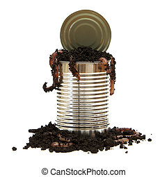 Opening a Can of Worms - A conceptual image relating to the...