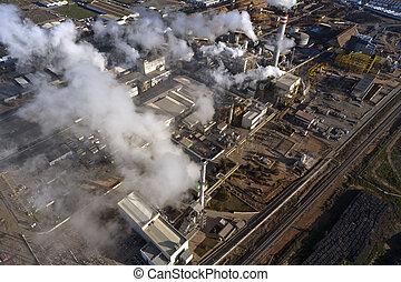 Aerial view of industrial facilities in Huelva