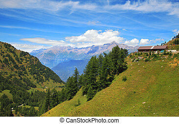 View on Alps in northern Italy.