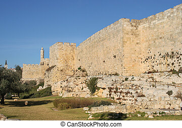 Walls of old Jerusalem.