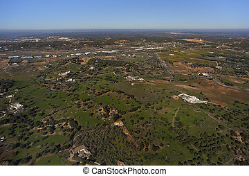 aerial view of Andalusia countryside