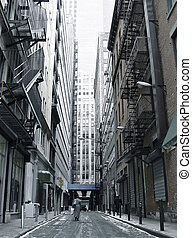 Historic City Street - Gotham Dramatic Backstreet with...