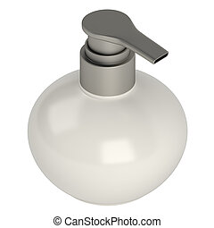 Round soap bottle