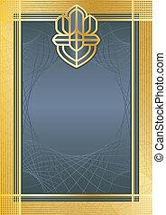 Certifikate bluegold - Backgroundmodel of...