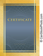 Certificate blue/gold - Background/model of...
