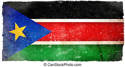 South Sudan grunge flag