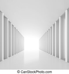 White Tunnel Background - 3d Illustration of White Tunnel...