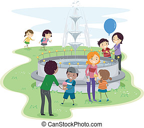Family Day - Illustration of a Family Having Some Quality...