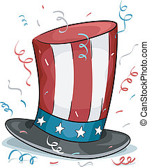 US Presidents Day - Illustration of a Top Hat Representing...