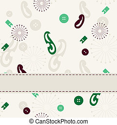 Sewing seamless background banner.
