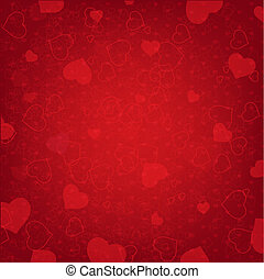 Valentines Day Background With Heart And Blur