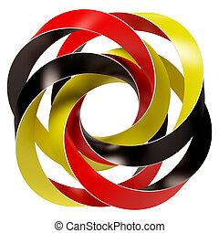 Germany Flag Concept - 3d Illustration of Germany Flag...