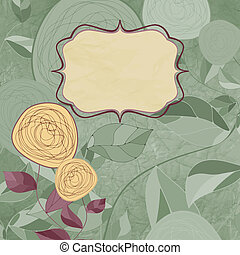 Floral backgrounds with vintage roses. EPS 8