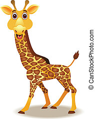 funny giraffe cartoon - illustration of funny giraffe...