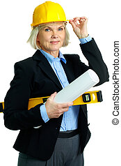 Mature architect - Portrait of smiling businesswoman in...