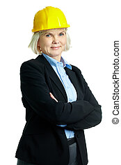 Successful architect - Portrait of serious businesswoman in...