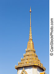 roof pagoda - roof of pagoda in the blue skybright blue sky...
