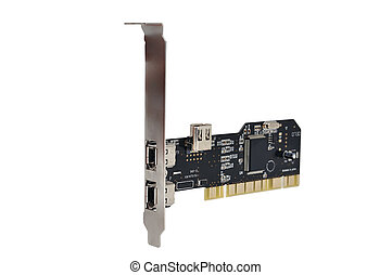 FireWire PCI Card on a white background