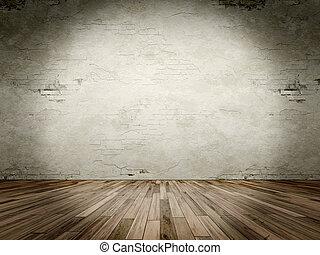 spot light - An image of a grunge room with a spot light