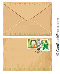 Mail envelope for St. Patrick's Day